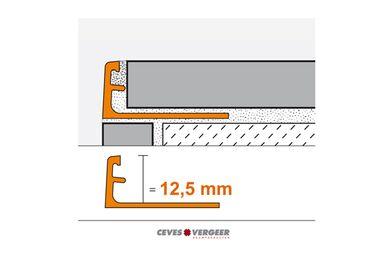 SCHLÜTER Tegelprofiel Recht Wit Aluminium 12,5x3000mm