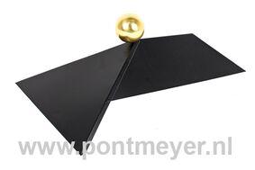 afdekkap zwart voor rechthoekige daken (zonder messing bol)