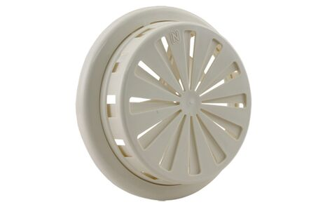 ventilatierooster verstelbaar 100-150mm wit