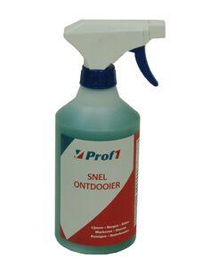 prof1 snelontdooier voor ramen en sloten tot -40 graden spuitfles 500ml