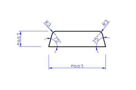 mdf koplat schuin V313 gegrond ko2 12x45x4880