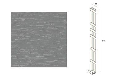 KERALIT 2848 Dakrand Tussenstuk 350mm Grijs Classic Nerf