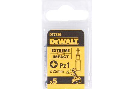 dewalt impact 25mm pz1 dt7386-qz (set van 5 stuks)