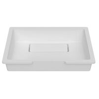Krion Solid Surface Spoelbak B827 E Solid Surface Snow White 380x280x121,5mm