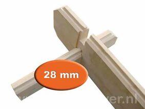 blokhutprofiel vuren geschaafd 28mm per m1