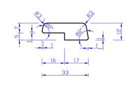 Meranti glaslat gevingerlast Wit E22 FSC 100% 12x33x4000mm