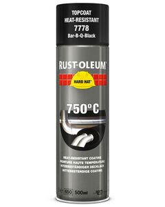 rustoleum hardhat hittebestendig spuitbus 750gr zwart