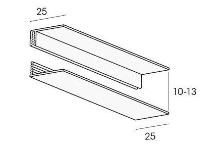 florence omrandingsprofiel 2-delig stuco 10x2700mm