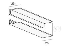 florence omrandingsprofiel 2-delig essenza 10x2700mm