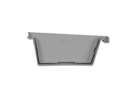 bakgoot einddeksel rechts 180mm grijs