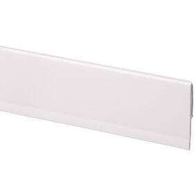 kunststof afwerkingsprofiel zelfkl wit 4x40x2600
