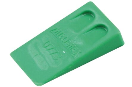 kunststof wig groen 40x23x8mm (set van 350 stuks)