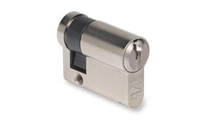 BUVA ProfielCilinder Enkel 2002/6 Messing Zilverkleurig SKG2 30/10mm
