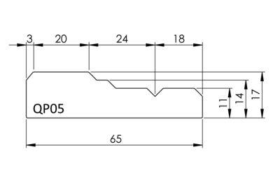 Architraaf QP05 Q-Pine Grenen FSC 18x65x4800mm
