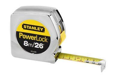 STANLEY Rolbandmaat 033198 Powerl 8m 25mm