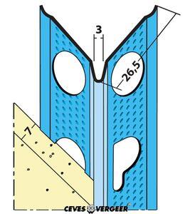 slimgrip hoekbeschermer sg1088 verzinkt staal 2600mm