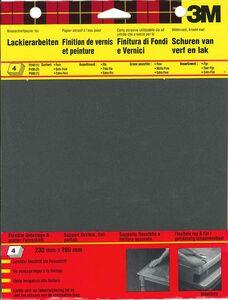 3m schuurvel wet/dry assortiment p240-p400-p600 zwart (set van 4 stuks)