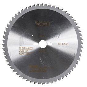 dewalt cirkelzaagblad 60tands dt4331-qz 305/30