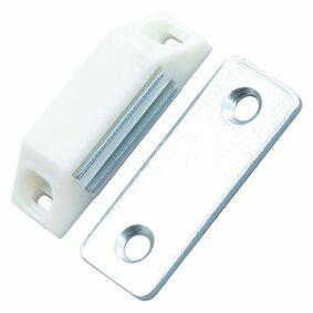 magneetslot 30mm wit 4kg (set van 4 stuks)