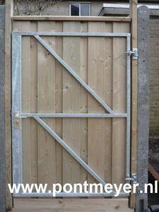 ijzeren deurframe gegalvaniseerd met slotkast 1000x1550