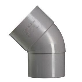 hwa bocht 45° 70mm vernauwd spie eind grijs
