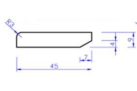mdf v313 plint gegrond pl1 9x45x4880