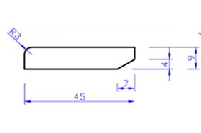 hardhout plint gelakt pl1 lvl 9x45x4900
