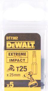 dewalt torx impact 25mm t25 dt7382-qz (set van 5 stuks)