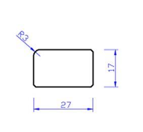 meranti glaslat b5 80mu gegrond  17x27x4000