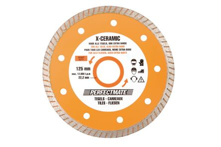 perfectmate x-ceramic tegels 125mm / 22,2mm