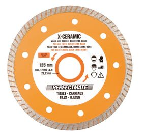 perfectmate x-ceramic tegels 125mm / 22,2mm