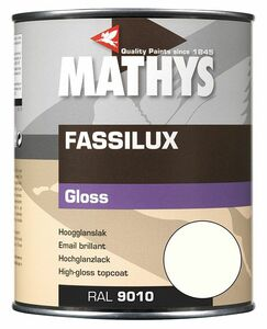 mathys fassilux gloss aflak ral9010 gebroken wit 1ltr