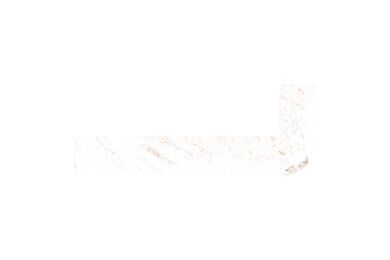 Grenen Hoeklat Gegrond Wit FSC 12x32x2700mm