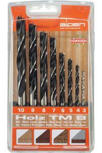 alpen hout spiraalboor set t/m10mm 8-delig