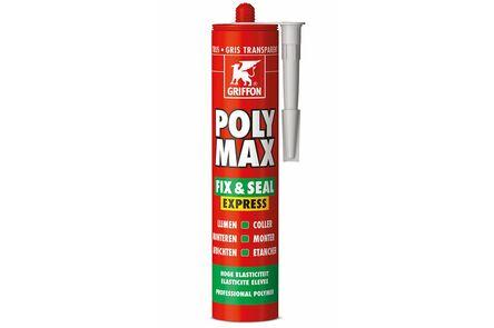 bison/griffon polymax lijmkit express transparant grijs 435gr