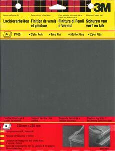 3m schuurvel wet or dry p400 zwart (set van 4 stuks)