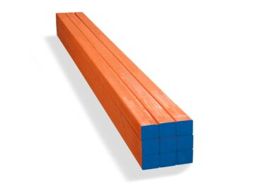 Stockholm Vuren Metselprofiel Oranje 5-laags FSC 66x76x2950mm