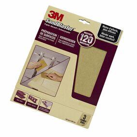3m schuurvel sandblaster p120 paars (set van 3 stuks)