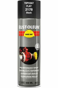 rustoleum hardhat verfspuitbus ral9005 zwart mat 500ml
