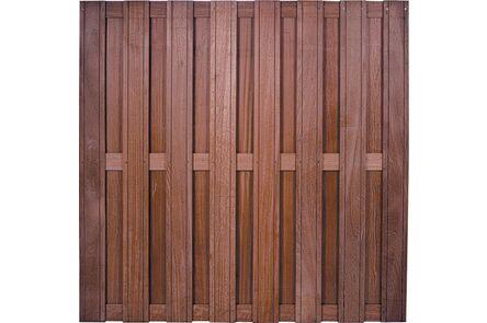 charmant tuinscherm recht hardhout keruing fsc 100% 1800x1800mm