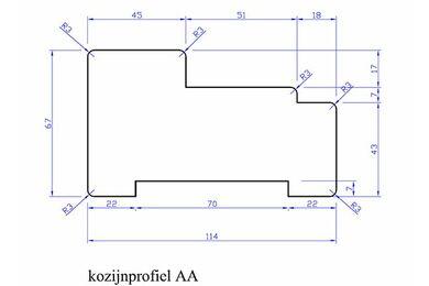 Meranti Kozijnprofiel Stijl AA PEFC 67x114x3050mm