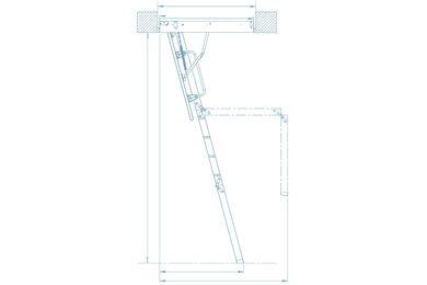 KEYLITE Zoldertrap 3-delig KYL 5 600x1200x2800mm