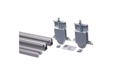 skantrae opbergen schuifdeurpakket voor 1 deur r60 aluminium 2550mm
