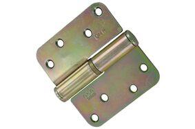 axa kogelpaumelle ronde hoeken links 1203-35-23 89x89mm verzinkt (set van 2 stuks)