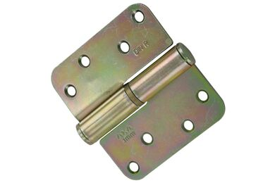 AXA Kogelpaumelle Ronde Hoek 1203-35-23 Verzinkt Links 2st 89x89mm