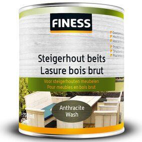finess steigerhoutbeits binnen/buiten anthraciet-wash 750ml