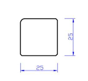 meranti glaslat b14 80mu gegrond  25x25x4000