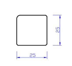 Meranti glaslat gevingerlast b14 80mu gegrond  25x25x4000