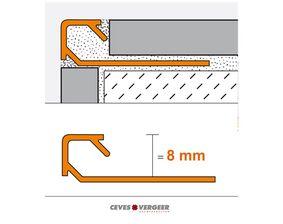 schluter tegelprofiel vierkant aluminium geanodiseerd q80ae 8x3000mm
