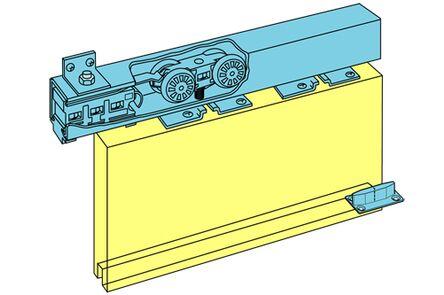 husky schuifdeurbeslag en rail aluminium h100/18a 950mm